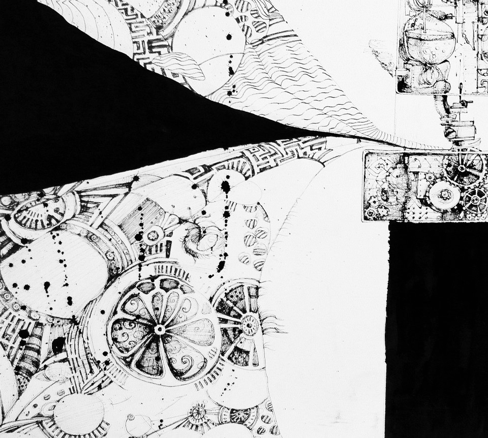 Sawing Machine. Ink 10x20in
