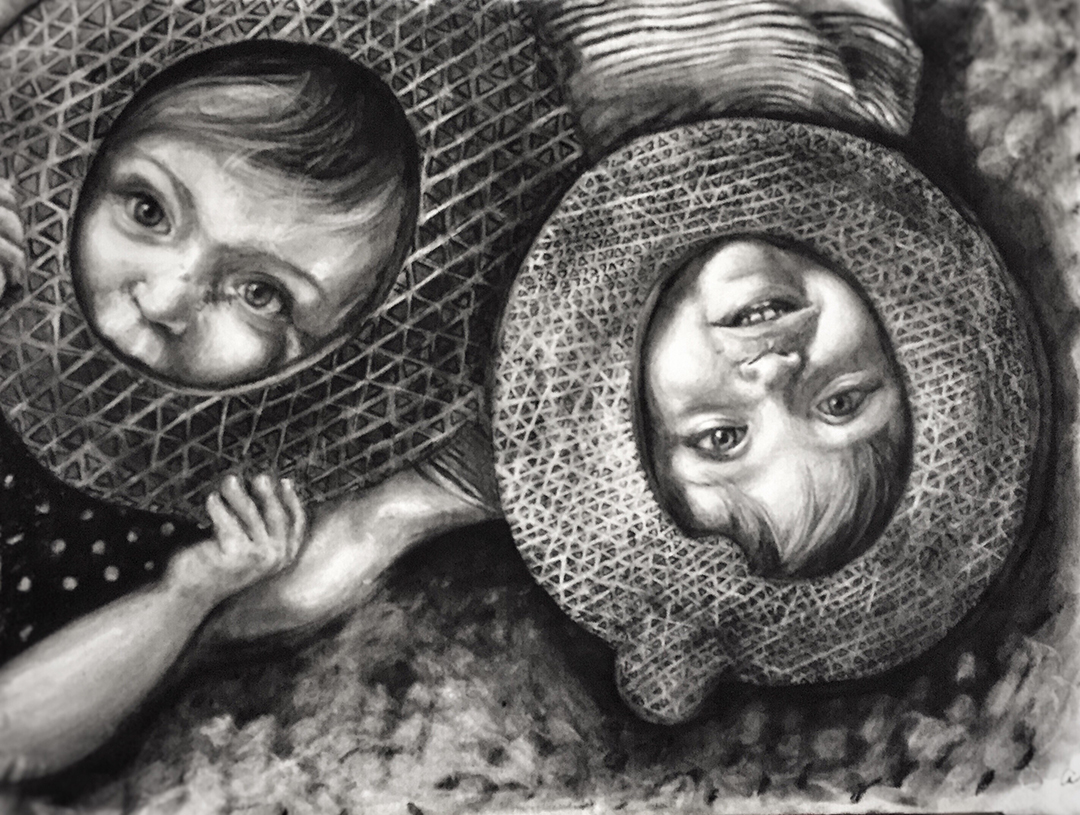 Q and O. Charcoal 20x26in