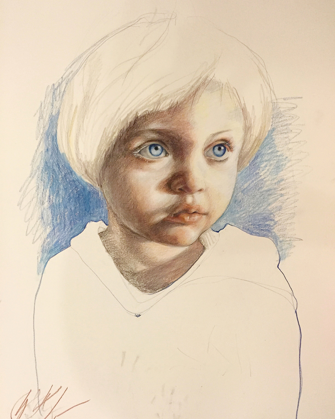 Anna. Color Pencil 16x20in