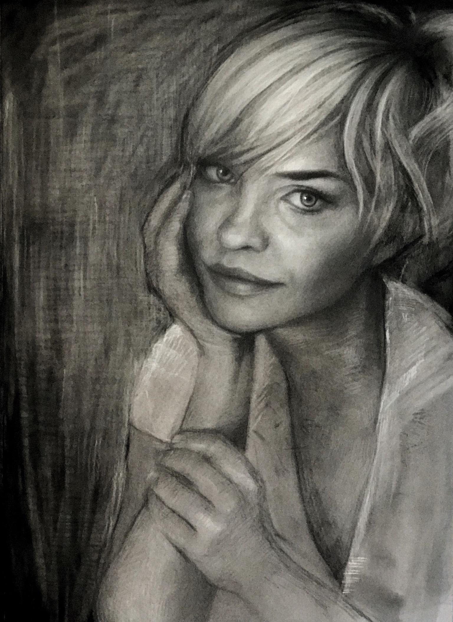 Study of Lindsey. Charcoal and Cchalk. 20x15""