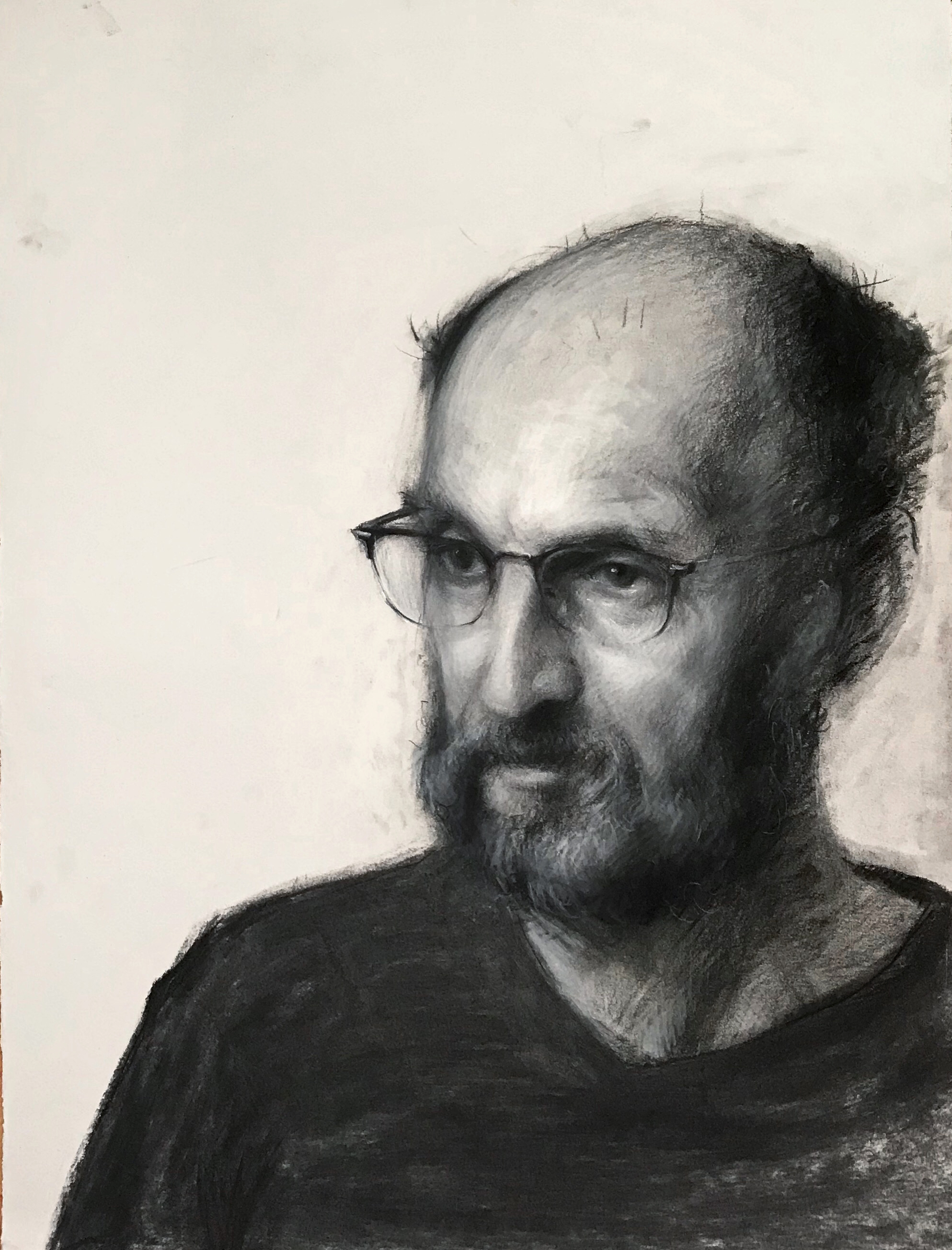 Papa. Conte Pastels. 20x15