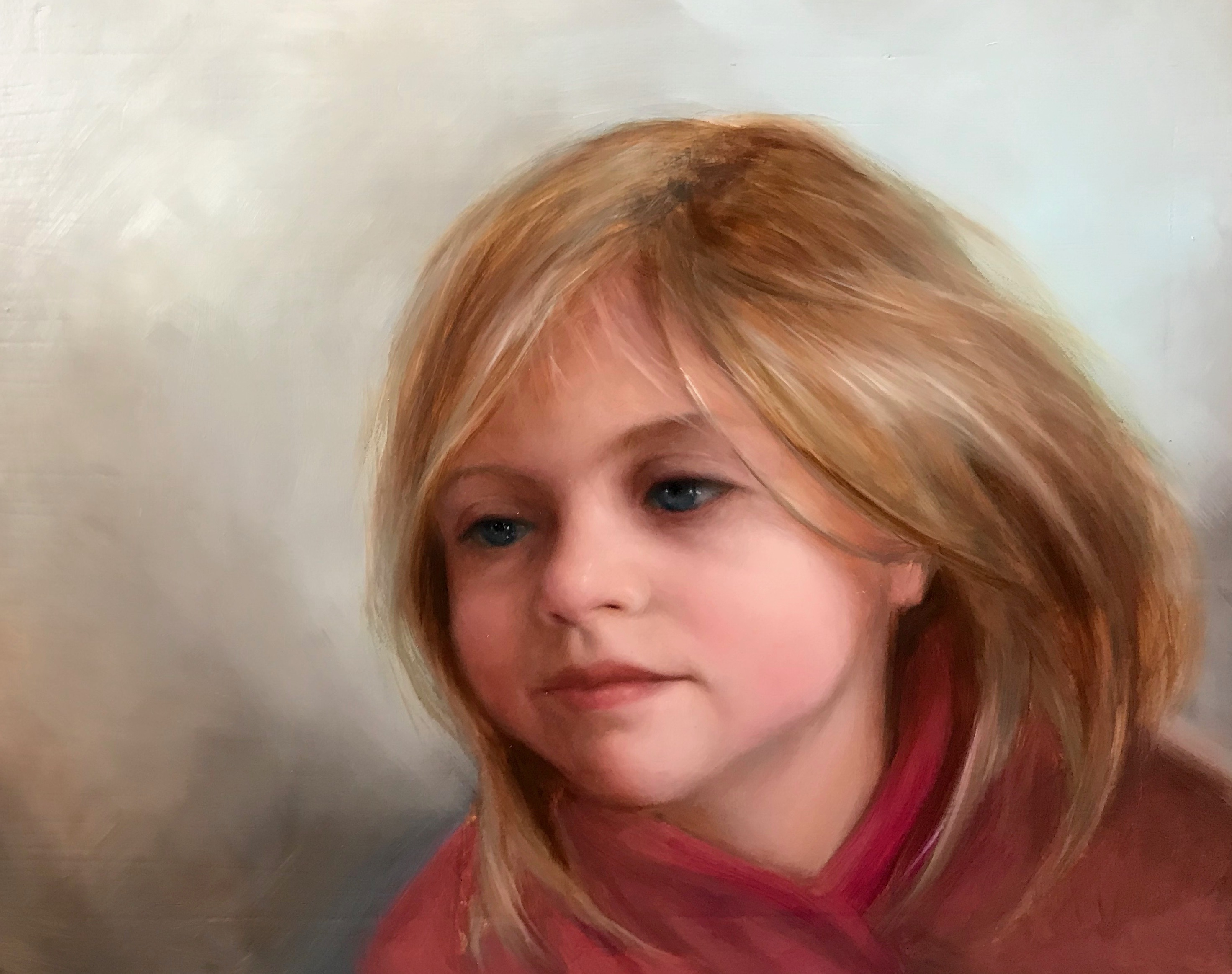 Anna. Oil. 12x16. NFS (children comission available)