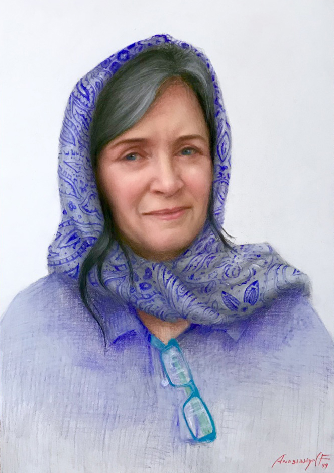 Elizabeth. pastel.  22x15
